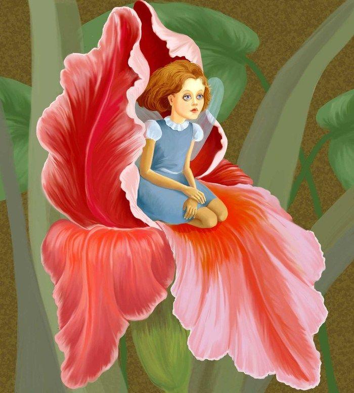 Картинки цветок дюймовочка