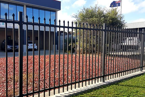 high quality security fencing supplies.Top vertical tube pressed to spear by heavy duty punch.Horizontal rail is punched holes which can insert vertical rail.Combine strongly by our exquisite clamp.Other way is vertical tube welded to horizontal bar directly.Ornamental fence's artistic and practice are complimentary by client.