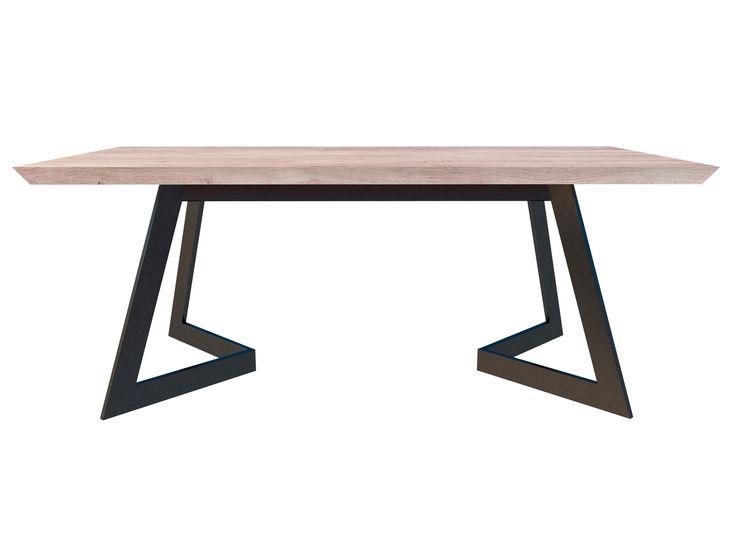 Antonio table  http://bit.ly/antoniotable  #table #wood #woodentable #oakwood #dinningtable #dinningroom ##designtable #steel #solidwood