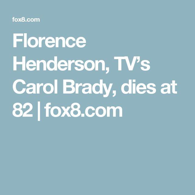 Florence Henderson, TV's Carol Brady, dies at 82 | fox8.com