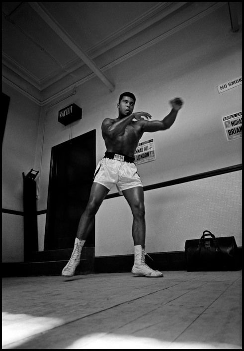 GREAT BRITAIN. London. 1966. Muhammad ALI training prior to a fight.Magnum Photos - Thomas Hoepker