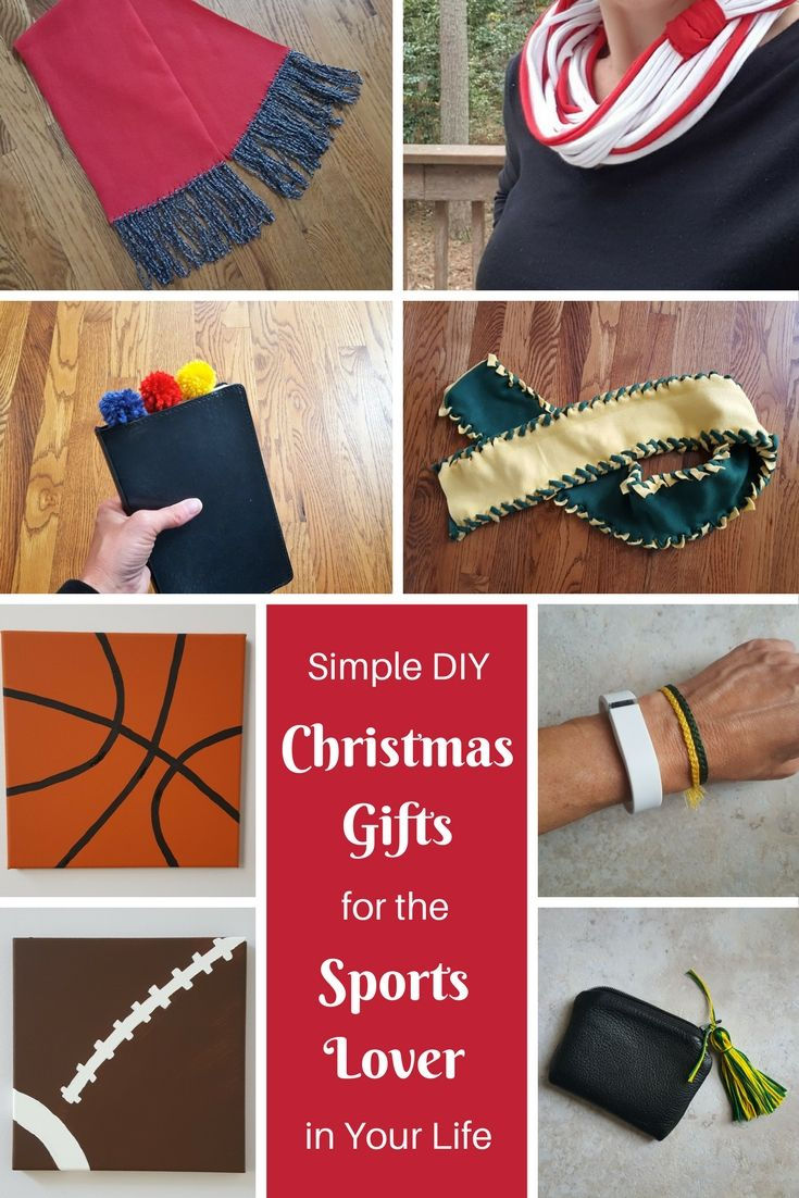 Sports lovers will go crazy over these simple gifts, when you create them in their favorite team colors!