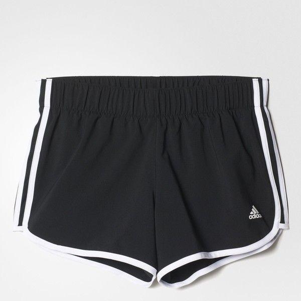 adidas M10 3-Stripes Shorts - Black | adidas UK (£25) ❤ liked on Polyvore featuring shorts, bottoms, adidas, adidas shorts, stripe shorts and striped shorts