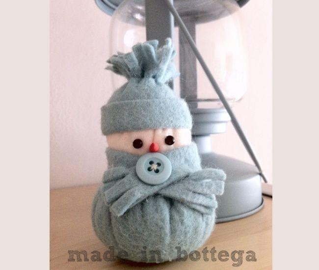 come fare un piccolo pupazzo di neve