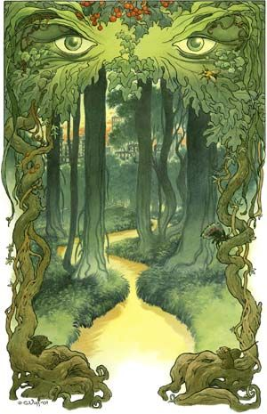 Into the green. Charles Vess: