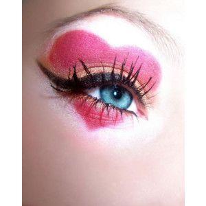 Pretty: Make Up, Eye Makeup, Heart Eye, Hair Makeup, Makeup Ideas, Valentines Day, Queen Of Heart, Costume, Heart Makeup