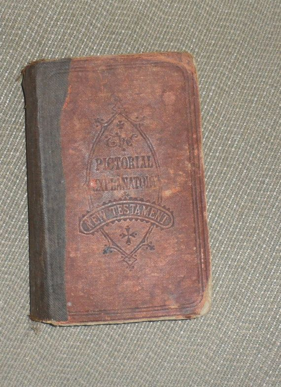 1900s PICTORIAL Explanatory NEW TESTAMENT / Decent by BYGONERA
