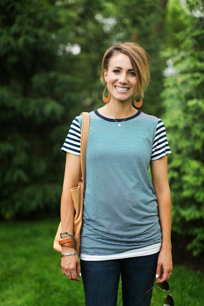 Stitch Fix Reviews | Stitch Fix Review by Kilee: This tee is just really that flattering! | http://stitchfixreviews.com