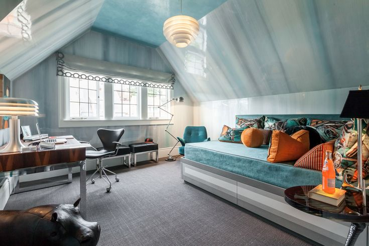 San Francisco 2015 Designer Showhouse: A bedroom designed by Willem Racke and Susan Lind Chastain.
