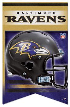 Ravens Football Posters | Baltimore Ravens NFL Football Premium Felt Banner - Wincraft Inc.