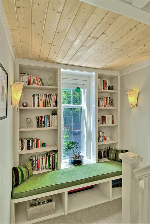 I love this little nook, used here as a reading area.