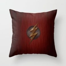 Flash logo Throw Pillow