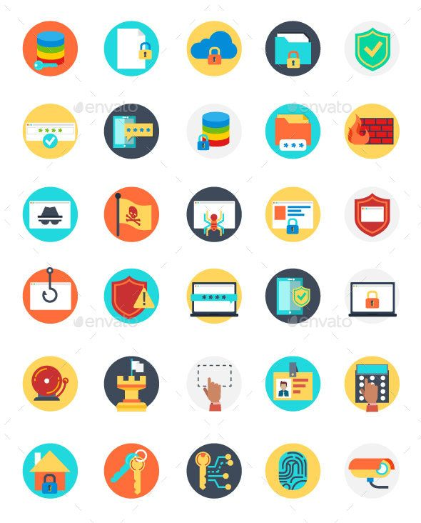 Set Of Internet Security Icons Internet Security Multipurpose Banner Data Design