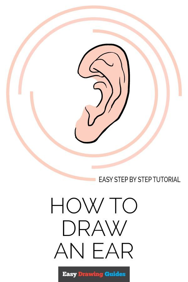 How To Draw An Ear Really Easy Drawing Tutorial Drawing Tutorial Easy Drawing People Drawing For Beginners