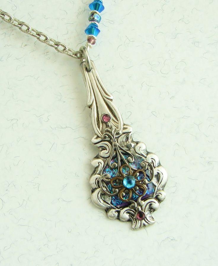 Spoon Necklace Spoon Pendant Antique Brass by SpoonfestJewelry, $32.00