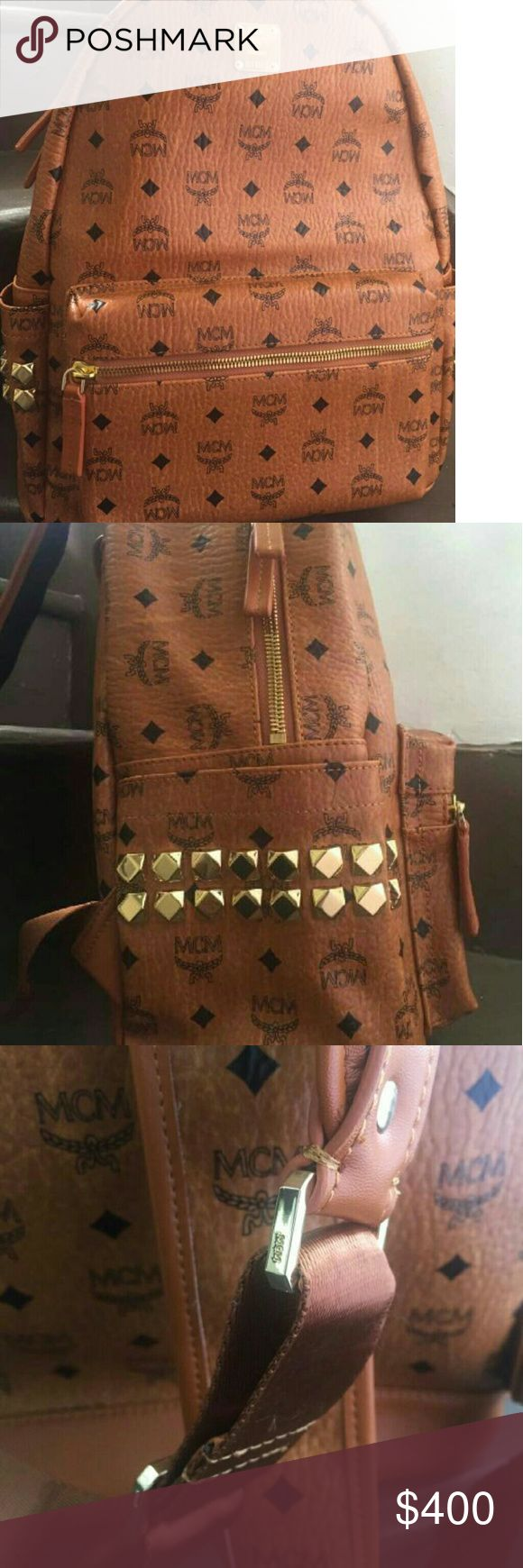 MCM Backpack New MCM Backpack Medium size,comes with authenticity card.Price is in the lowest range,so please be reasonable in throwing offers thank you.😊😊😉 MCM Bags Backpacks