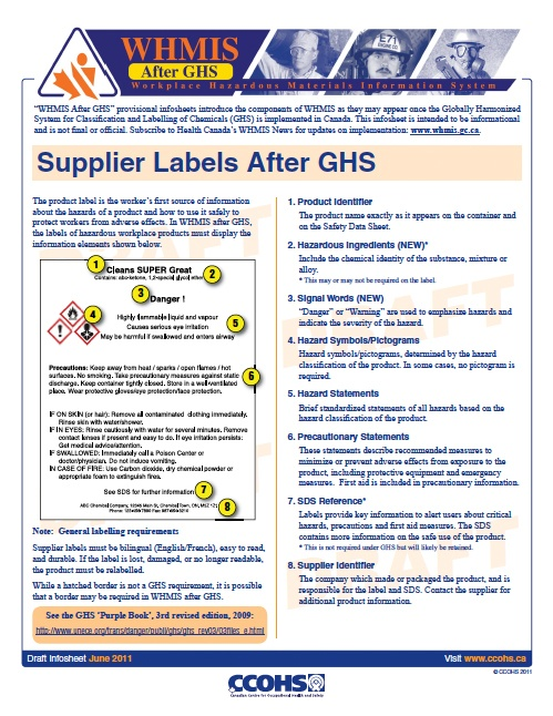 48 best osha stuff images on pinterest hazard for Whmis labels template