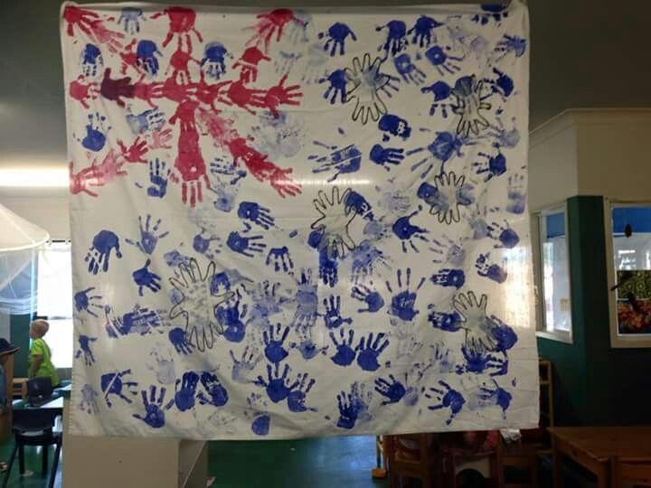 Australia Day handprints