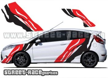 Ford Fiesta tiger stripe graphics from www.street-race.org