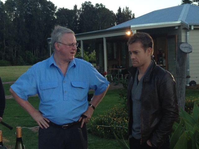 Bruce Tyrrell & Grant Denyer talking Hunter Valley wine