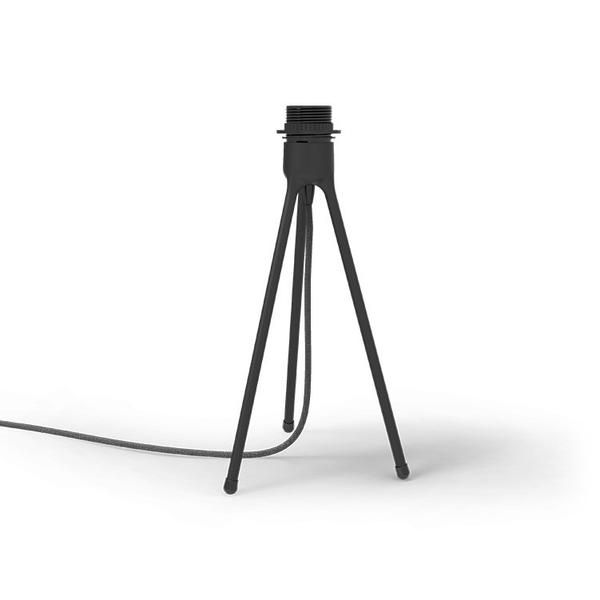 Vita Tripod Table Stand Decor: Vita tripod table stand in Black. Fitting for a standard UK shade. Comes with 2m textile cord with switch & plug.