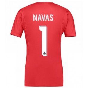 Real Madrid Brankářské Keylor Navas 1 Venkovní Dres 17-18 Krátký Rukáv