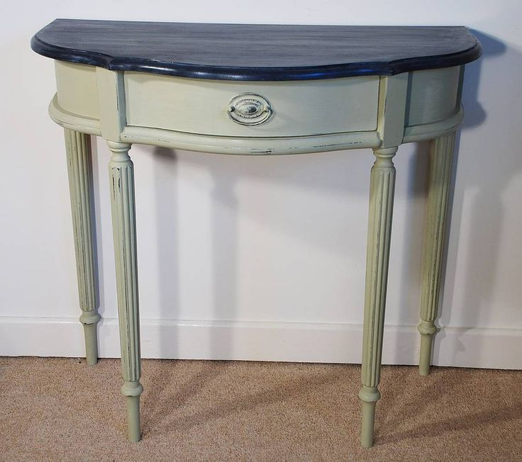 8 best repainted half moon tables images on Pinterest ...