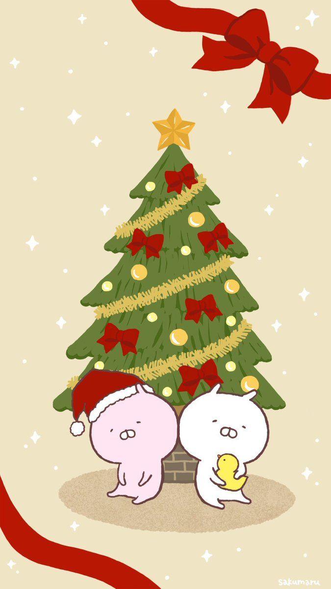Sakumaru うさまるといっしょ On Wallpaper Christmas Ornaments