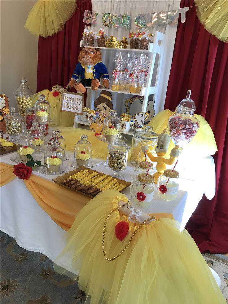 206 best images about food ideas at a princess party on for Beauty and beast table decorations