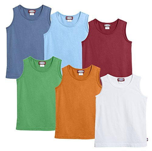 City Threads Little Boys' Soft Cotton Jersey Tank Tanktop (Size 2T-6) >>> You can get more details at