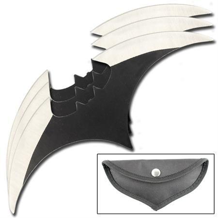 Batman Begins Set of 3 Batarang Throwing Knives    Throwing Knives From All Ninja Gear
