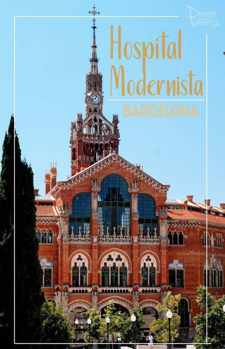 O Hospital de la Santa Creu em Barcelona é uma das atrações modernistas da cidade. Aliás conhecido também como Hospital Modernista é a maior obra modernista da Europa. Próximo da Sagrada Família, a visita vale a pena.