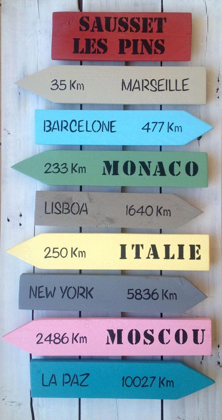 Panneau De Direction En Bois - 17 meilleures idéesà propos de Panneaux En Bois De Palette sur Pinterest Décorations de