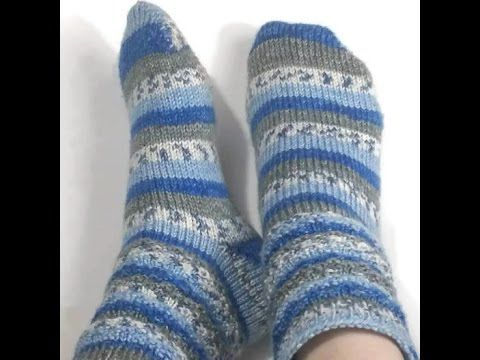 Loom Knit Toe Up Socks Beginning to End on the Knitted Knocker Loom - YouTube