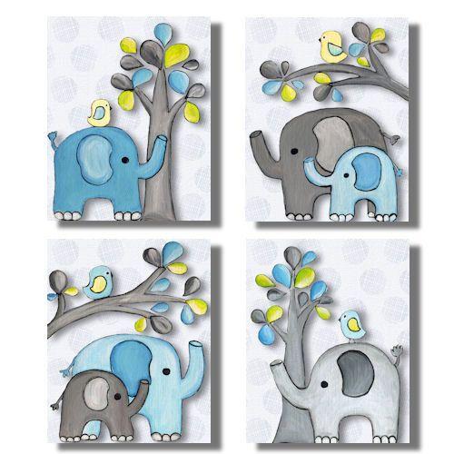 troncos de amor elefantes arte de pared para cuarto de nios habitacin de beb con