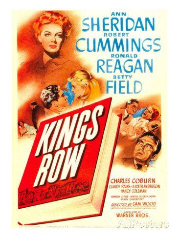 King's Row, Ann Sheridan, Robert Cummings, Betty Field, Ronald Reagan on Midget Window Card, 1942 Prints at AllPosters.com