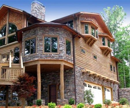 Casa din piatra si lemn