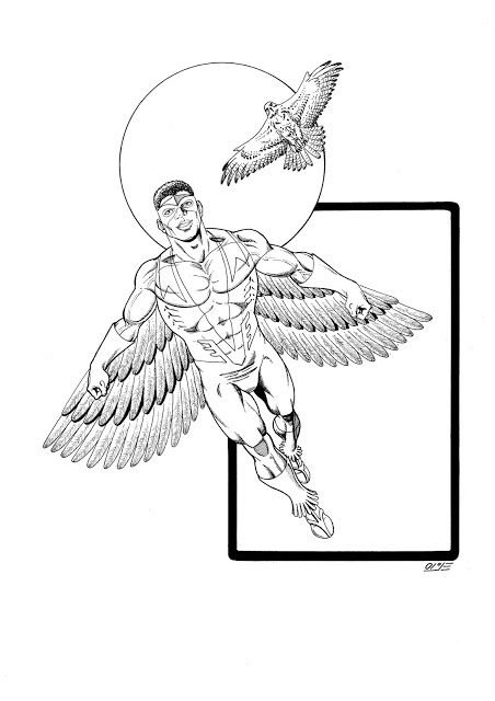 falcon avengers coloring pages - photo#16