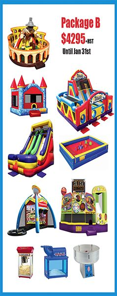 Partytime Inflatables Inc releases 2015 Public Event Packages. T.S.S.A Licenced Company