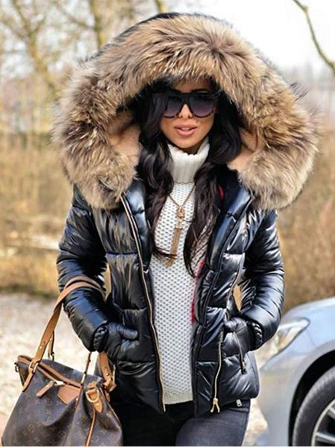 7e67d62986a6 Women Camouflage Warm Faux Fur Lining Coat in 2019 | My Style ...