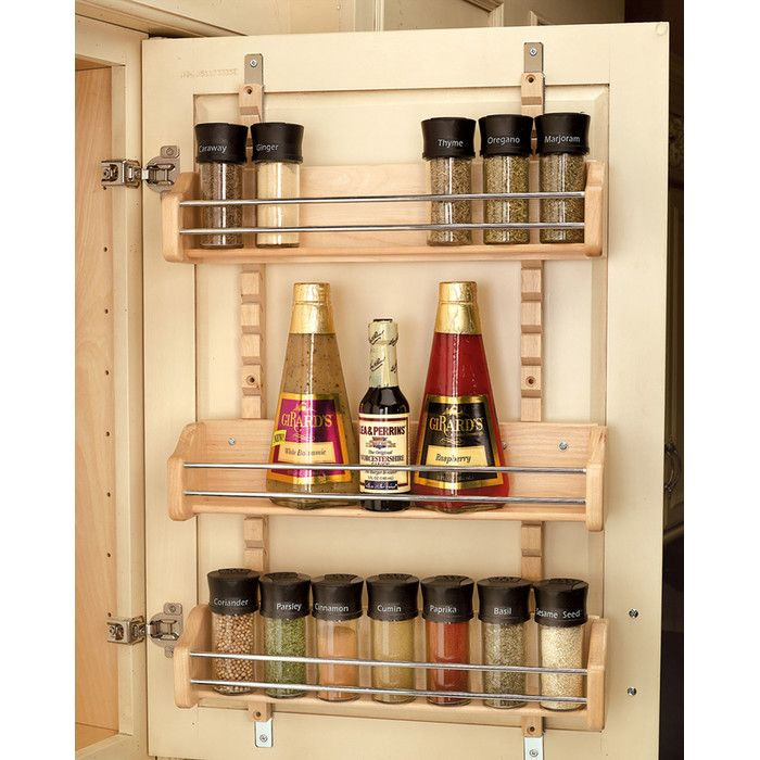 Rev-A-Shelf Adjustable Door Mount Spice Rack & Reviews | Wayfair