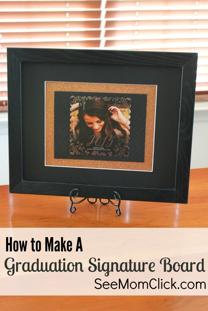 Here are my simple instructions on how to make a graduation signature board. This is an easy craft & beautiful keepsake, especially with Tiny Prints cards!