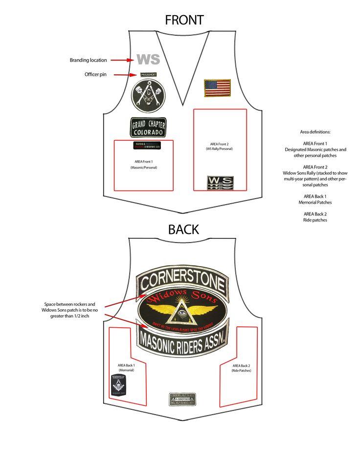 biker vest patch placement Motorcycle Garage Pinterest