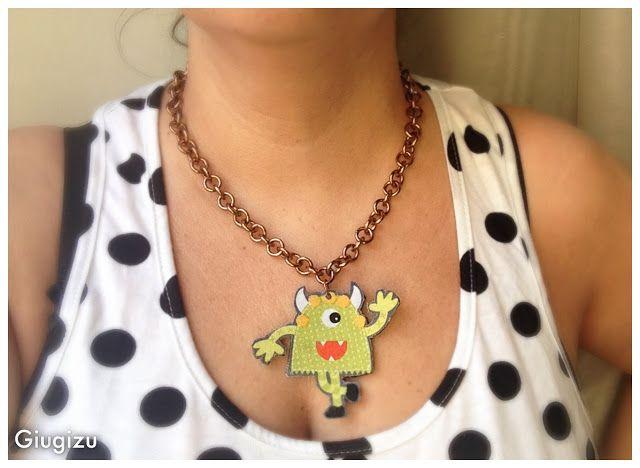 Giugizu's corner: Cute Monsters themed handmade accessories #2 - Accessori fatti a mano con piccoli mostri #2