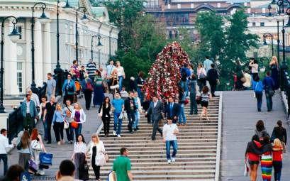 Luzhkov Bridge Tourist Attractionin Moscow