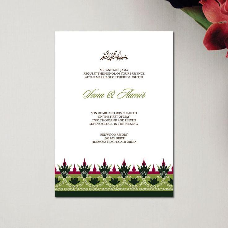 9 best Wedding Invitation Wordings Muslim images on ...
