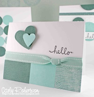 pretty & simple (love the use of scraps at the bottom)