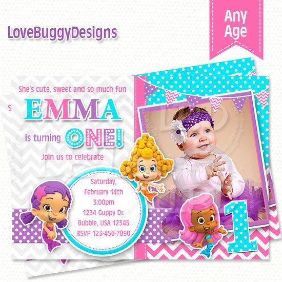 Bubble Guppies Invitation, Bubble Guppies Birthday Invitations, Photo Bubble Guppies Party Printables - YOU PRINT Style 34