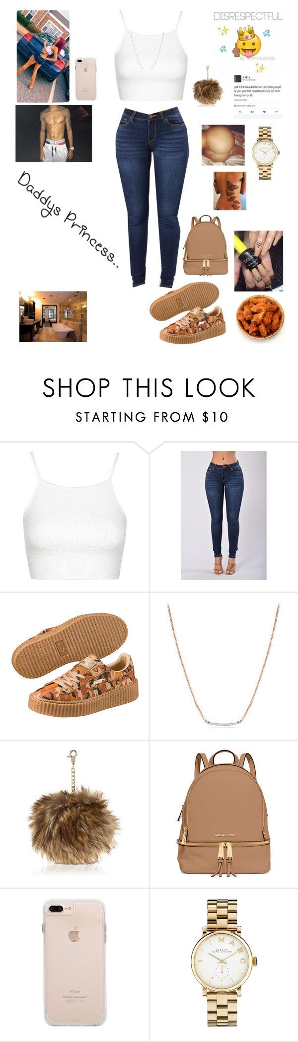 """""""Kaila"""" by goldsouls ❤ liked on Polyvore featuring Topshop, Puma, David Yurman, River Island, MICHAEL Michael Kors and Marc by Marc Jacobs"""