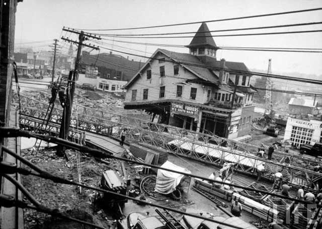 Probably The Most Memorable Image Of 1955 Flood For Torrington Is That Large White Building With Cupola On Top